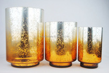 Hot Selling Wedding Centerpieces Gold Mercury Glass Vases Wholesale