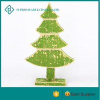 Small Green decorative driftwood tree driftwood tree ornament decorative wood tree With Foundation