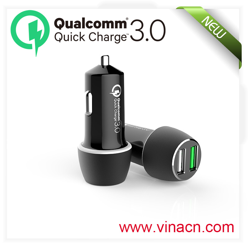 mini usb in car car charger qc 3.0,smart phone usb charging car charger qc3.0,for iphone usb quick car charger 3.0 car charger