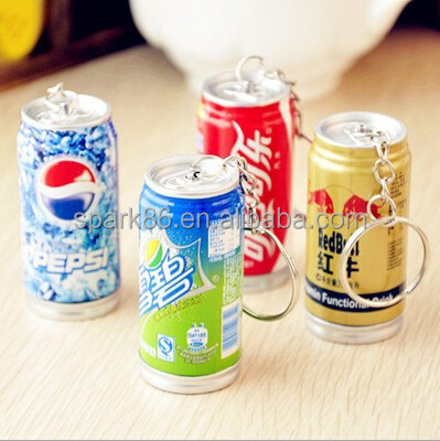 high quality plastic beer can key ring