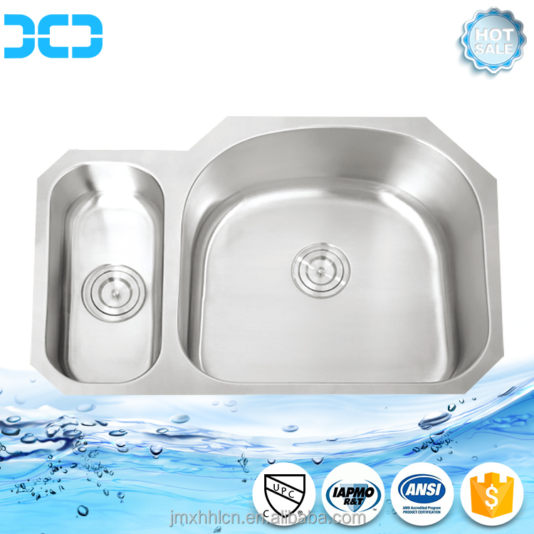 square double bowl stainless steel 304 water kitchen sink