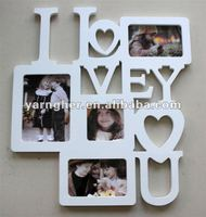 "fashion with letters and four photos 3x3 ""5x7"" 4x6"" wooden photo frame"