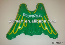 Promotional green inflatable wing