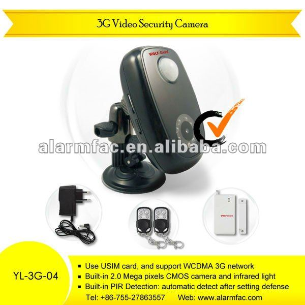 Stable professional 3g pir alarm camera tuta gw2 3g alarm camera 3g gsm video camera security alarm YL-3G-04