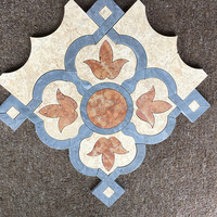 The beautiful design of natural stone mosaic, water jet mosaic tile for bathroom
