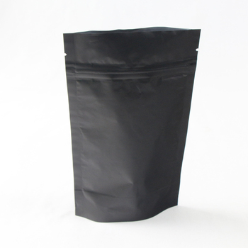 China Supplier Aluminum Foil Black Printed Stand Up Pouching Bags