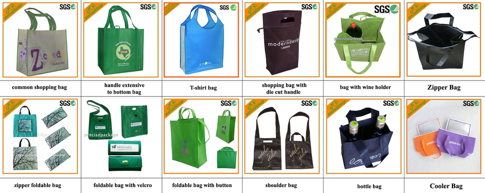 Customized printing OEM advertising glossy laminated tote bag wholesale