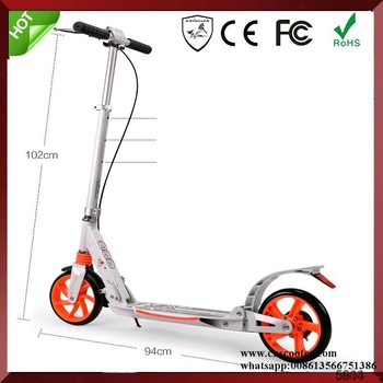 aluminum wheels urban push kick scooters for adult