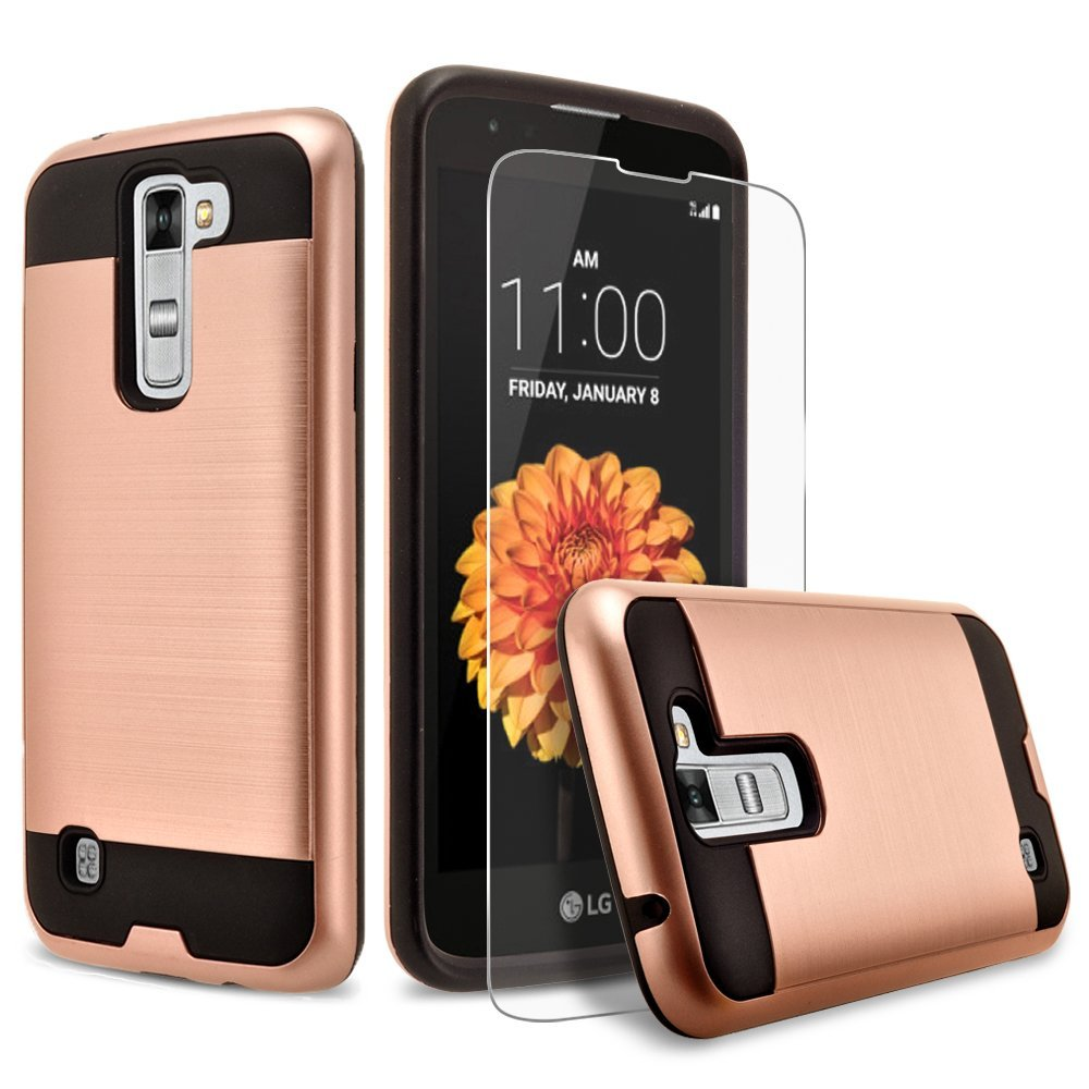 Cheapest 2 in 1 Brushed Metal Cell Phone Case For LG <strong>K10</strong>