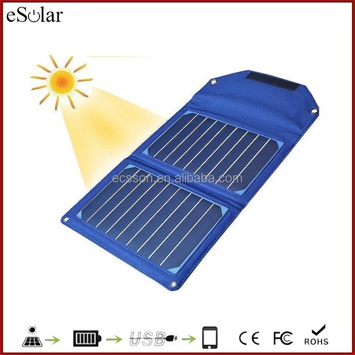 Hight Quality product 10w Foldable solar panel bag/portable solar power bank charger