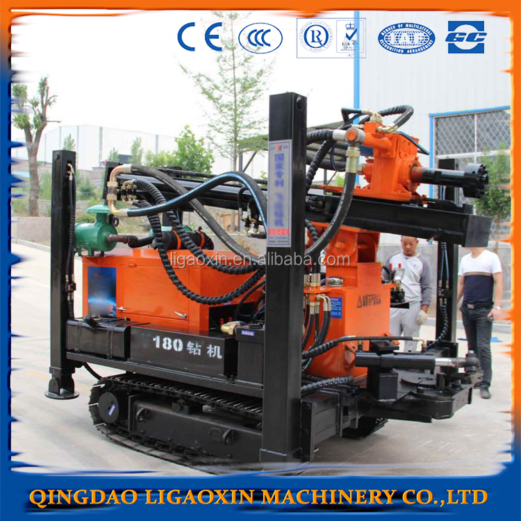 Small portable water well drilling rig.