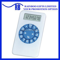 Plastic cheap logo printed mini Pocket Calculator