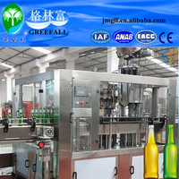 Full automatic Glass Bottle Grape wine/beer filling machine/plant