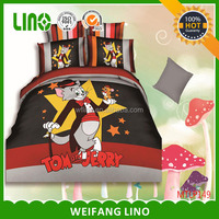 3d bedding/yellow and orange bedding/tom and jerry bedding