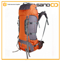 Sandoo custom quality polyester travel back pack,camping hiking backpack bag