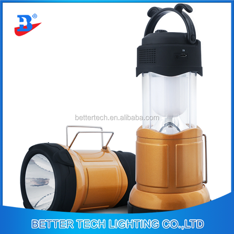 Rechargeable Camping Light Stretched Lantern Emergency Lamp with radio and usb port