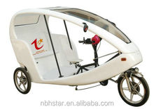 electric velotaxi |velotaxi | trike trickshaw with open body cabin | body open Lead-acid battery electric tricycle