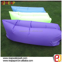 Outdoor hangout fast inflatable air lounge mobile lazy sofa for beach / home