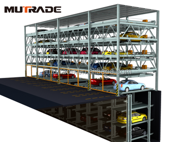 Automatic Vehicle Lift Sliding System Steel Structure for Car Parking