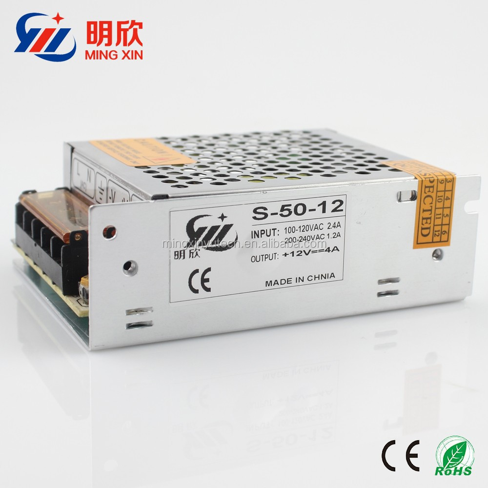 12v 4.2a 50w led switching power supply ,50w AC DC led power supply