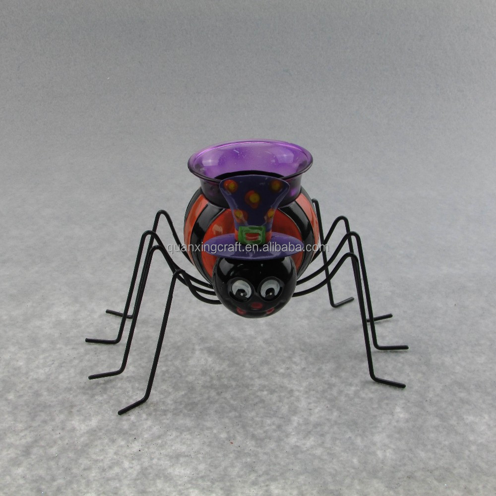 Metal Spider Candle holder Halloween Decorations