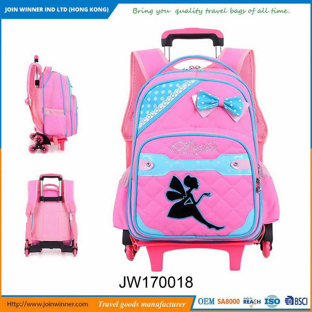 Custom Logo Book Bag for School Girls With Different Colors