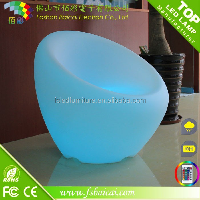 Lounge room decorative led illuminated furniture light chair BCR-210C