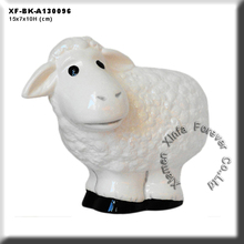 unique unpainted greenwares lamb money bank