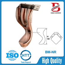 High quality decorative metal furniture feet for sofas and charis