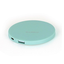Mini portable mobile power supply 2600mah Mirror power bank as gifts