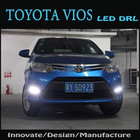 2014 high power LED DRL daytime running lights used Toyota Vios,100% waterproof&safty installation