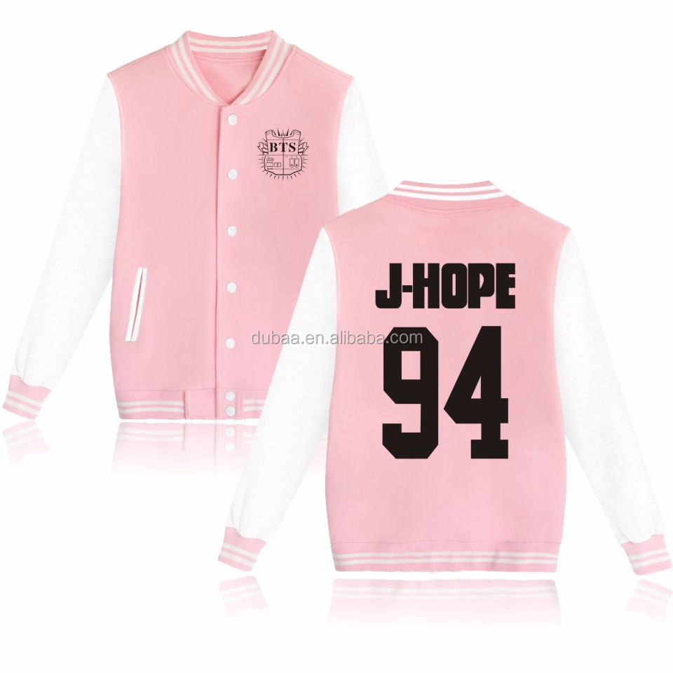 Kpop BTS In Bloom Sweatershirt Sweater Jung Kook Hoodie Bsaeball Uniform