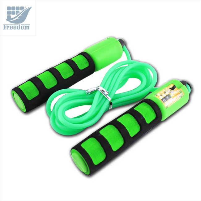 Top quality adjustable jump rope with counter for fitness