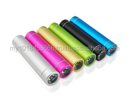 Round Tube Power Bank with Flash Light