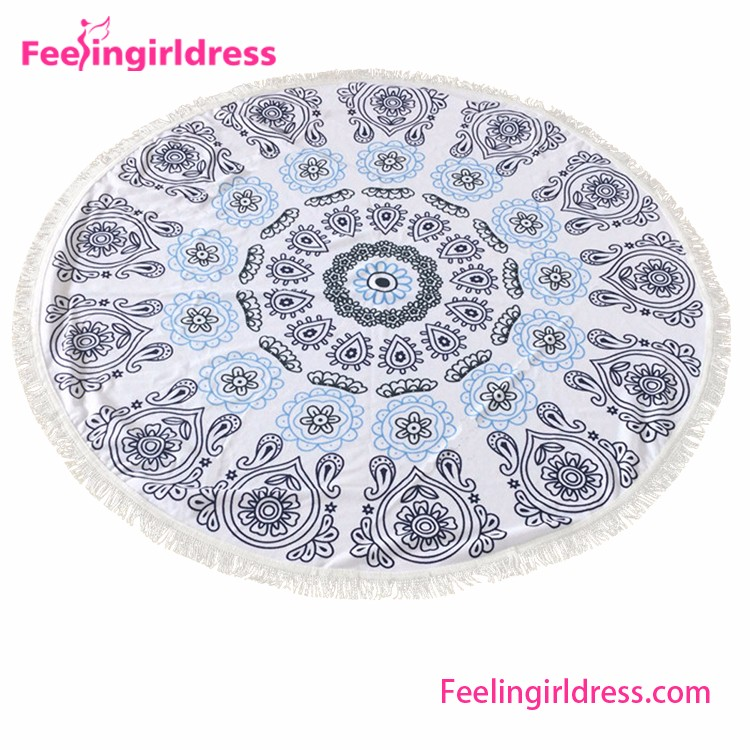 Round Shaper Nylon Mandala Towel Waterproof Beach Blanket