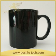 Promotional Photo Printing Mug Black Simple Eco Style Cups With Handle