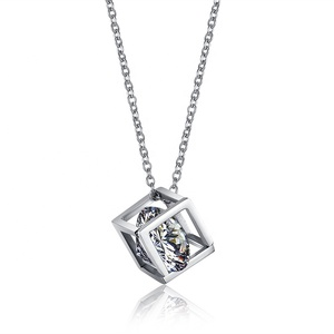 new fashion steel crystal pendant necklace for women