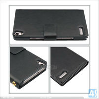 2013 new products for Huawei Ascend P6 leather flip case P-HUWEIP6CASE004 Albee