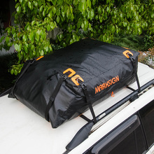Patented Original Design-100% Waterproof Aerodynamic Car Roof Bag, 15-17.5 cuft, Fits Vehicles with or without Roof Racks
