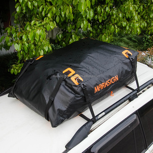 Patented Original Design-100% Waterproof Aerodynamic Car Roof Bag, 15-17.5 cuft, Fit Vehicles with or without Roof Racks