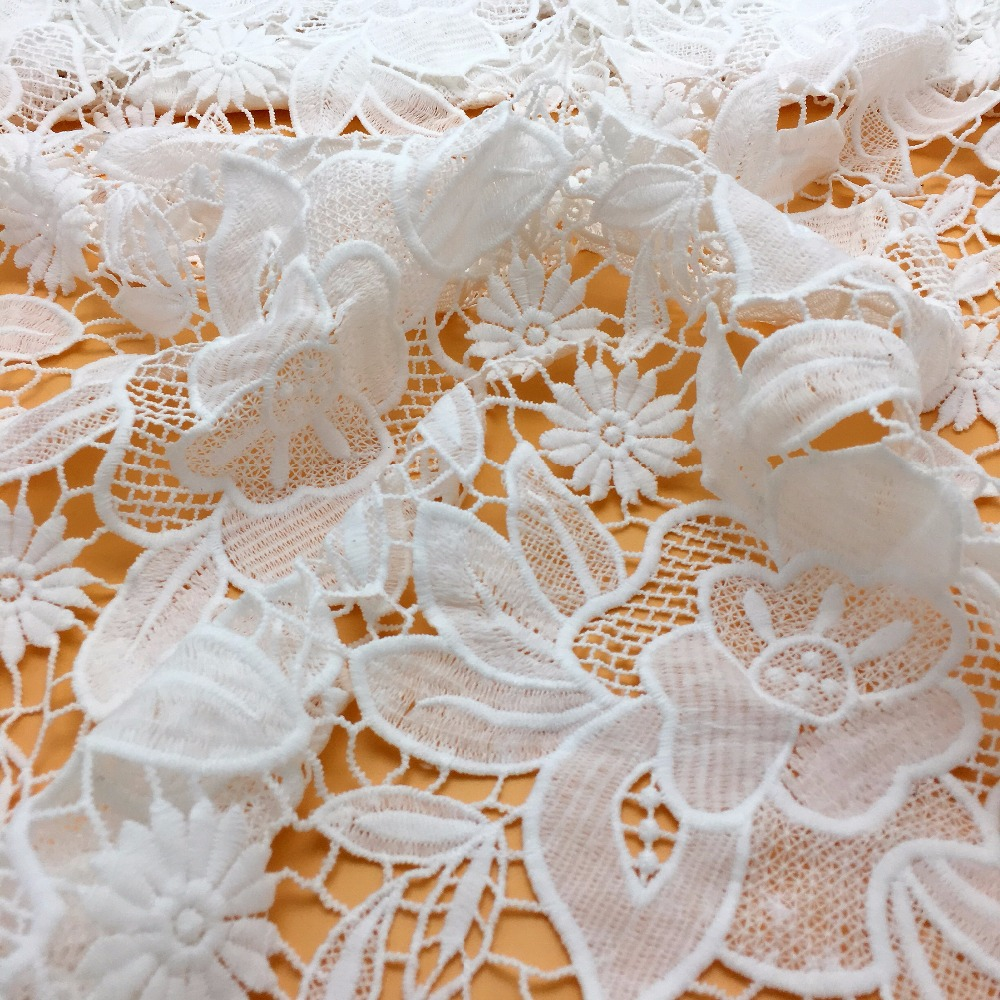 130cm flower factory weaving swiss lace fabric for garment