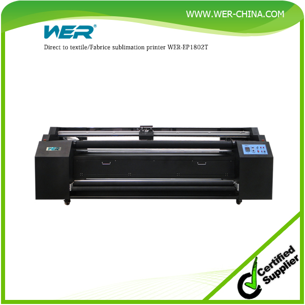 Inkjet directly sublimation printer for polyester textile