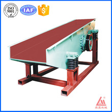 China 2016 hot sale vibrating feeder price with 70-160 tons per hour handle ability used for stone
