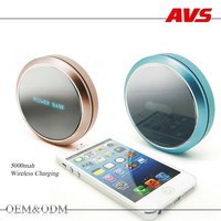 AVS 2016 new fancy luxury gift 5000 mah portable for iphone 6 and samsung galaxy cell mobile phone wireless charger power bank