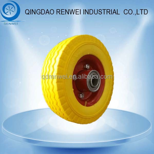 6 inch Flat Free Tire /6 inch rubber Wheel/6 inch solid rubber wheel