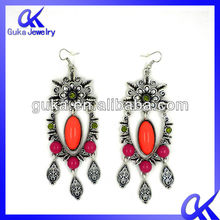 2012 Latest Artificial Jewellery Acrylic Plum Blossom Earring For Party