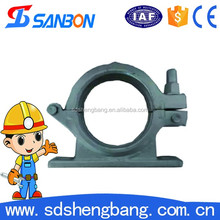 Factory Supply Forging DN125 5 inch pipe clamp /Concrete Pump Bolt Clamp with Bracket