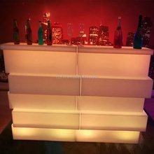 modern home unique designed block bar counter led glowing and illuminated lighting up