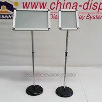 2015 hot sale product Aluminum picture frame floor stand