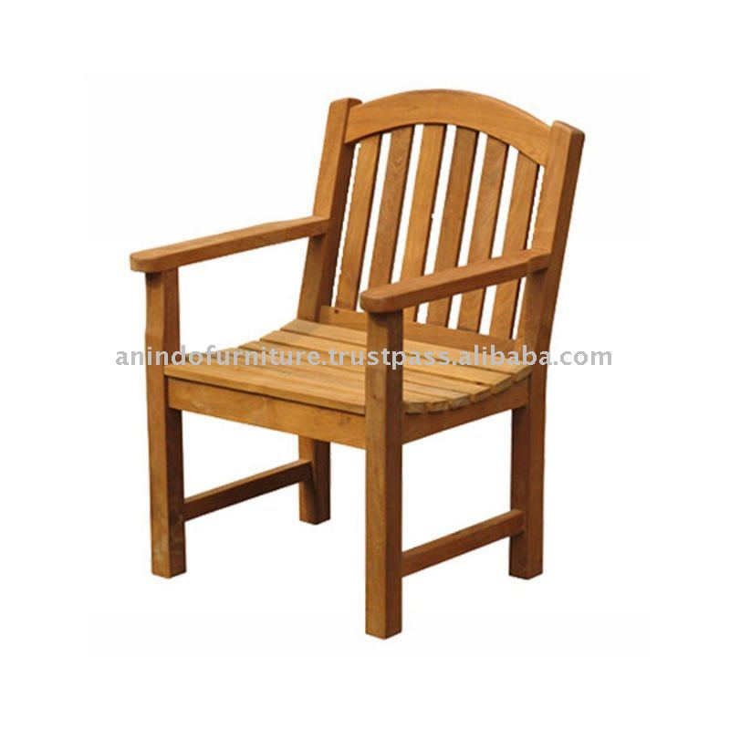Teak Outdoor Furniture - Bow Back Arm Chair